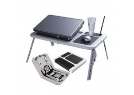 Mesa Notebook Com 2 Coolers Usb Dobrável Cama Sofa E-Table YZD300