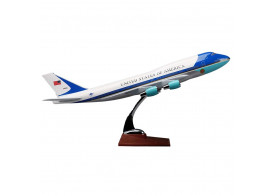Maquete Avião Resina Boeing 747 Air Force One 47 cm WF-A47-A