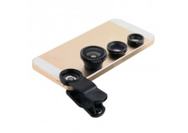 Kit Lente Universal Fish Eye Macro Wide Iphone Galaxy Ipad