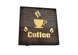 Painel Luminoso Decorativo Café Led Letreiro Placa Escrito Coffee
